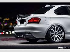 Alpine White BMW E82 135i With VMR Wheels