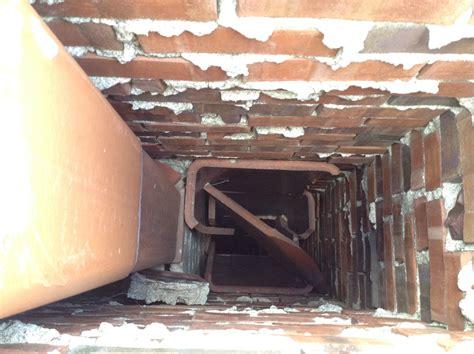 inside of a chimney bricks collapsing inside a chimney in prairie village kansas