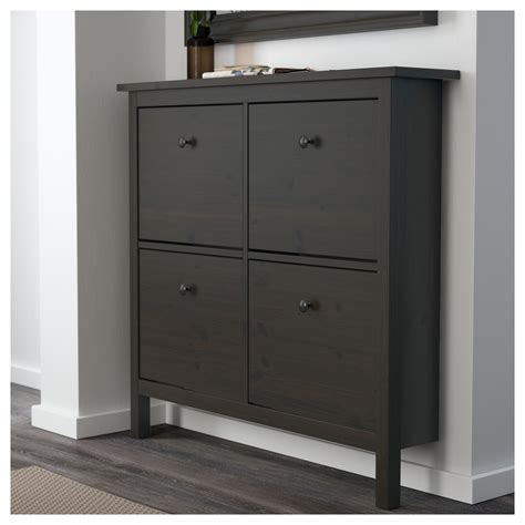 Shoe Cabinet by Hemnes Shoe Cabinet With 4 Compartments Black Brown 107 X