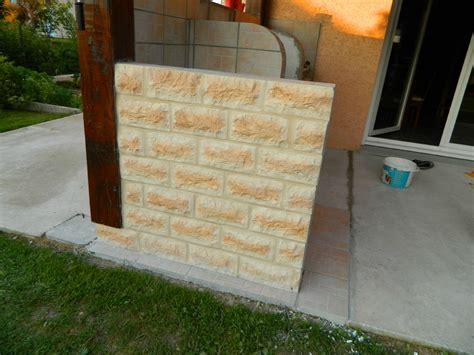 cuisine d ete en beton cellulaire cuisine du0027t extrieure lumires led monter un mur en beton