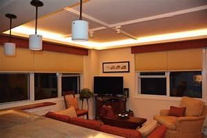 2 Light Bar Pendant Led Ceiling Cove Lighting Contemporary Living Room