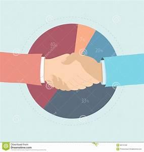 Free Partnership Agreement Contract Market Share Agreement Flat Illustration Stock Vector