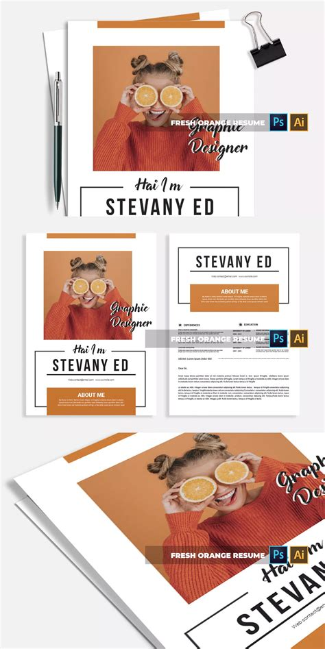 Free resume templates that gets you hired faster ✓ pick a modern, simple, creative or professional resume template. Fresh Orange | CV & Resume by Vunira on | Resume, Cv ...