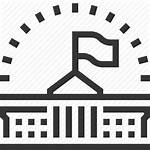 Governance Icon Politics Government Building President Flag