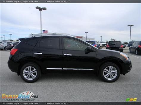black nissan rogue 2012 nissan rogue sv super black black photo 4