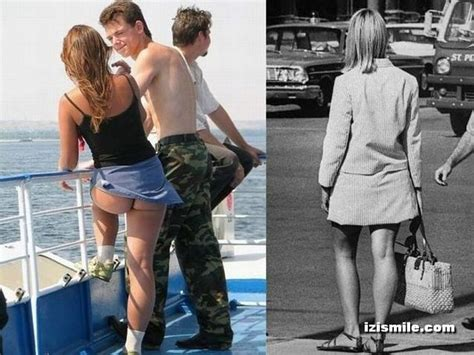 Mini-skirts From The 70's Vs Modern Era (22 Pics