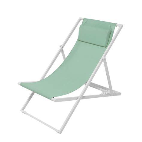 chaise longue chilienne chaise longue chilienne de jardin en métal et toile