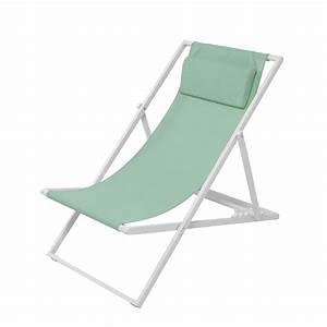 Chaise Jardin Maison Du Monde : chaise longue chilienne en m tal et toile plastifi e ~ Premium-room.com Idées de Décoration