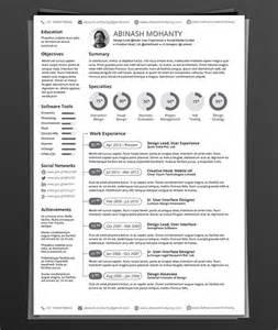 resume illustrator template 50 beautiful free resume cv templates in ai indesign