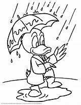 Rainy Coloring Pages sketch template