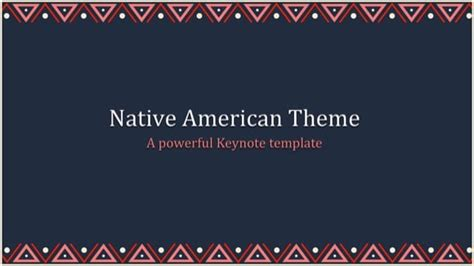native american powerpoint template