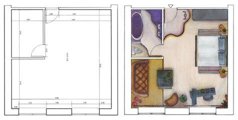 plan d une chambre d hotel chambre d hôtel