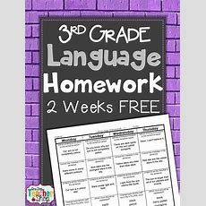 Freebie!! Common Core Spiral Language Homework For 3rd
