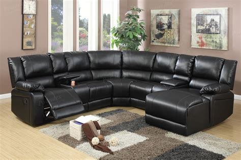 Sectional Sofas Reclining by Black Leather Reclining Sectional A Sofa Furniture