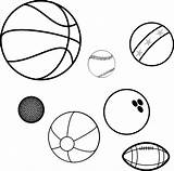 Balls Coloring Sports Game Ball Clip Bowling Benefits Basketball Baseball Children Adults Pixabay Clker Clipart Vector Health Supports Healthy Heart sketch template