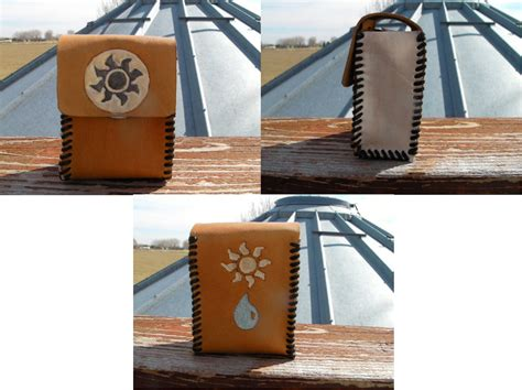 custom made mtg deck box mtg custom blue white deck box by zarinebashire on deviantart