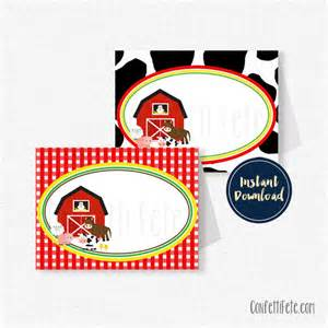 Farm Animals Printable Food Labels