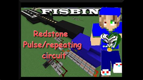 Minecraft Redstone Repeating Pulsing Circuit Tutorial