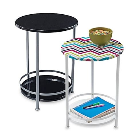 bed bath and beyond side table round side table with bottom storage shelf bed bath beyond