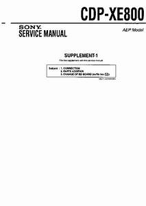 Sony Cdp-xe800  Serv Man2  Service Manual