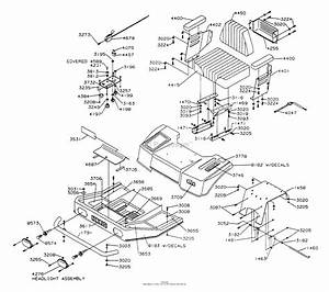 Dixon Ztr 428  1991  Parts Diagram For Body Assembly