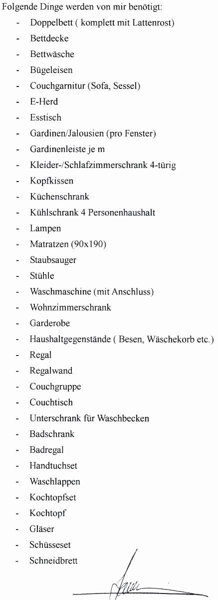 Liste Erstausstattung Wohnung by Top 20 Erstausstattung Wohnung Liste Beste Wohnkultur