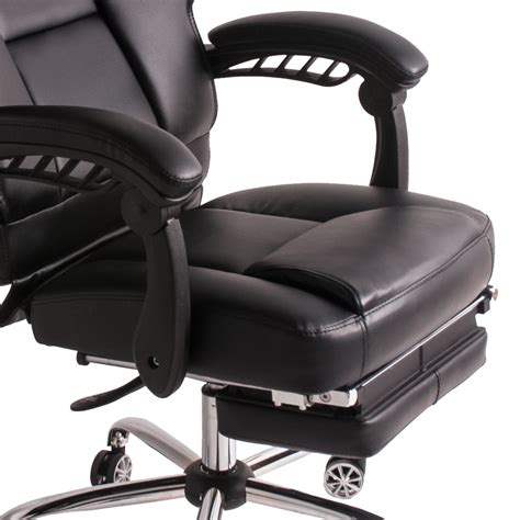 luxury black office chair high back adjustable executive