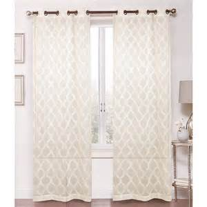 geo swirl sheer window panels 38 quot x 84 quot 611540559