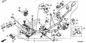 Honda Motorcycle 2017 Oem Parts Diagram For Wire Harness  1