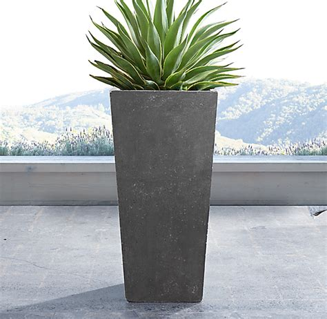 Weathered Cast Planters weathered cast tapered planter