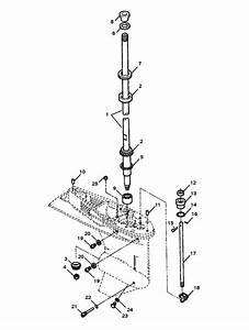 Force 75 Hp  1998  Driveshaft  U0026 Lower Shift Components Parts
