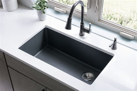 quality kitchen sinks spotlight on quartz kitchen sink collections by elkay abode 1699