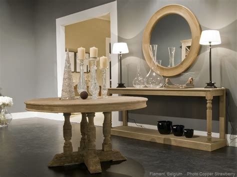 Flamant Divani by Flamant Console Table Briar Oak Weather Beaten European