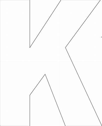 Printable Letter Template Letters Cut Bold Alphabet