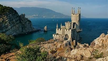 Sea Crimea Castles Nest Swallows Wallpapers