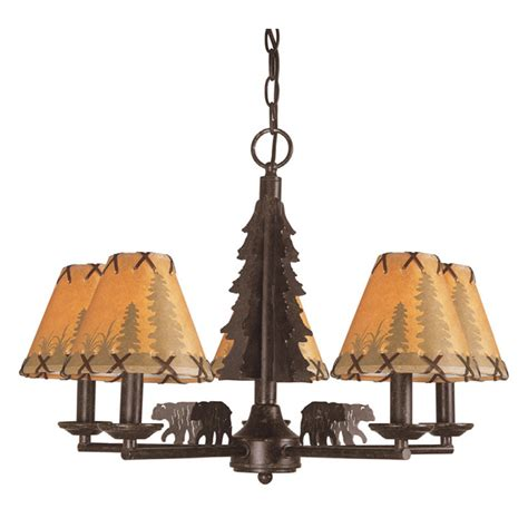 shop bel air lighting lodge decor 5 light rubbed