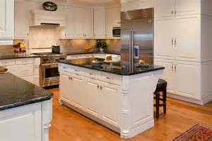 Kitchen Island With Granite Traditional 1 Traditional Kitchen Richmond By Custom Kitchens Inc