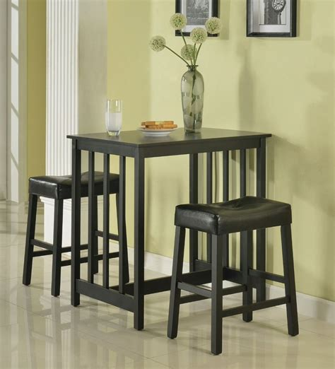 bar dining table set counter height dining breakfast set bar black wood table