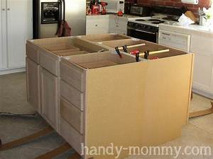 building kitchen island with wall cabinets » woodworktips