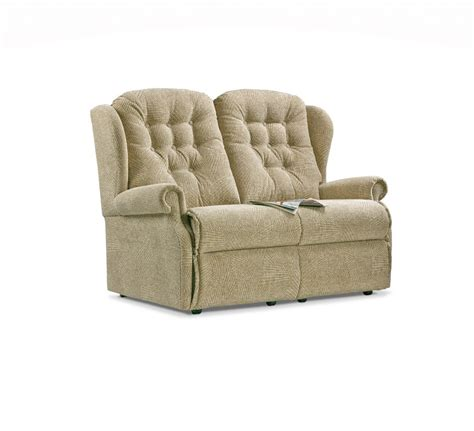 Small 2 Seater Settees by Lynton Small Fabric Fixed 2 Seater Settee Care100