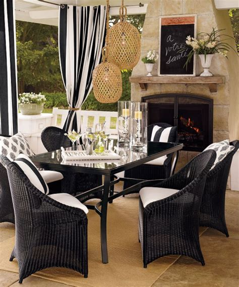 dining room outdoor living black and white black white