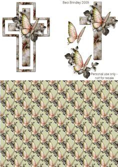 decoupage  sympathy  images card toppers craft