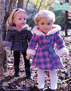 Design American Girl Doll My Angie Girl The Warm Winter Coat Doll Clothes Pattern 18