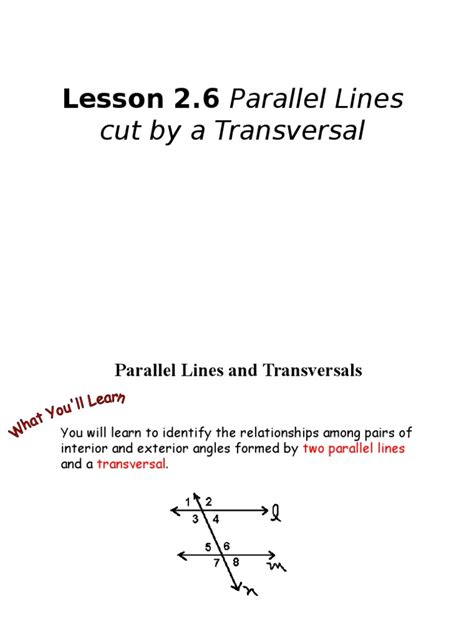cuisine parall鑞e lesson 2 6 parallel lines and transversals line geometry classical geometry