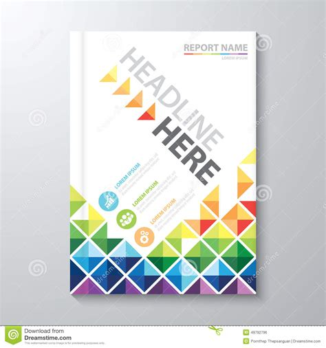 annual report cover in abstract design vector free cover annual report stock vector illustration of brochure