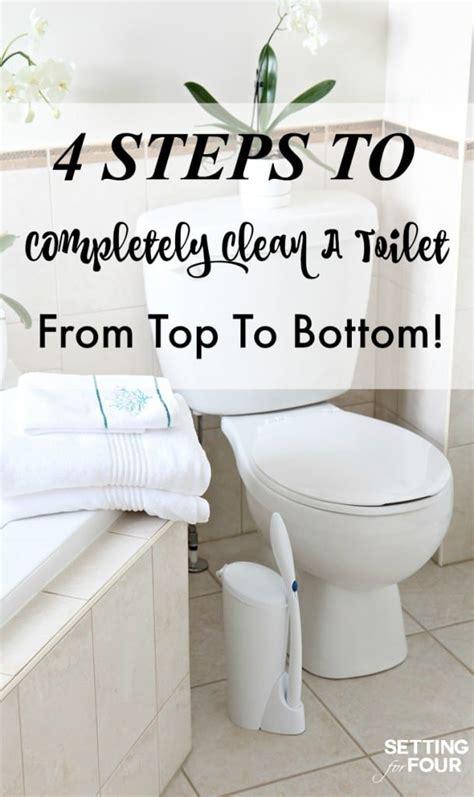 deep clean  toilet   steps setting