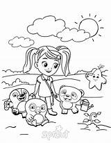 Ruff Coloring Dave Tweet Sprout Designlooter Along sketch template