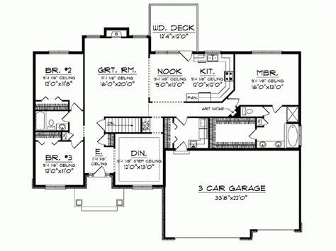Mediterranean Style House Plan 3 Beds 2 Baths 2007 Sq/Ft