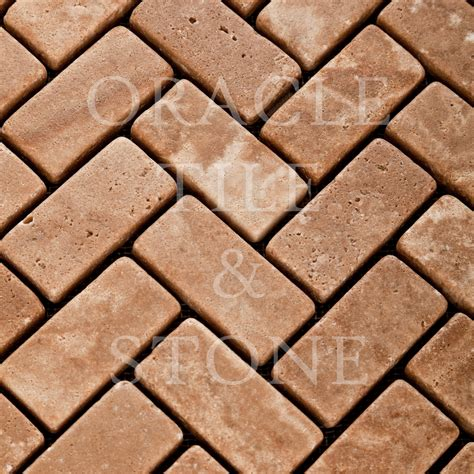 herringbone travertine tile andean walnut travertine herringbone mosaic tile oracle tile stone