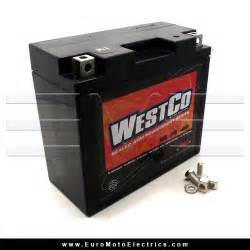 Westco Agm  Absorbed Glass Mat  12 Volt  12 Amp  Hour Battery For Moto Guzzi  900 Ss  Monster